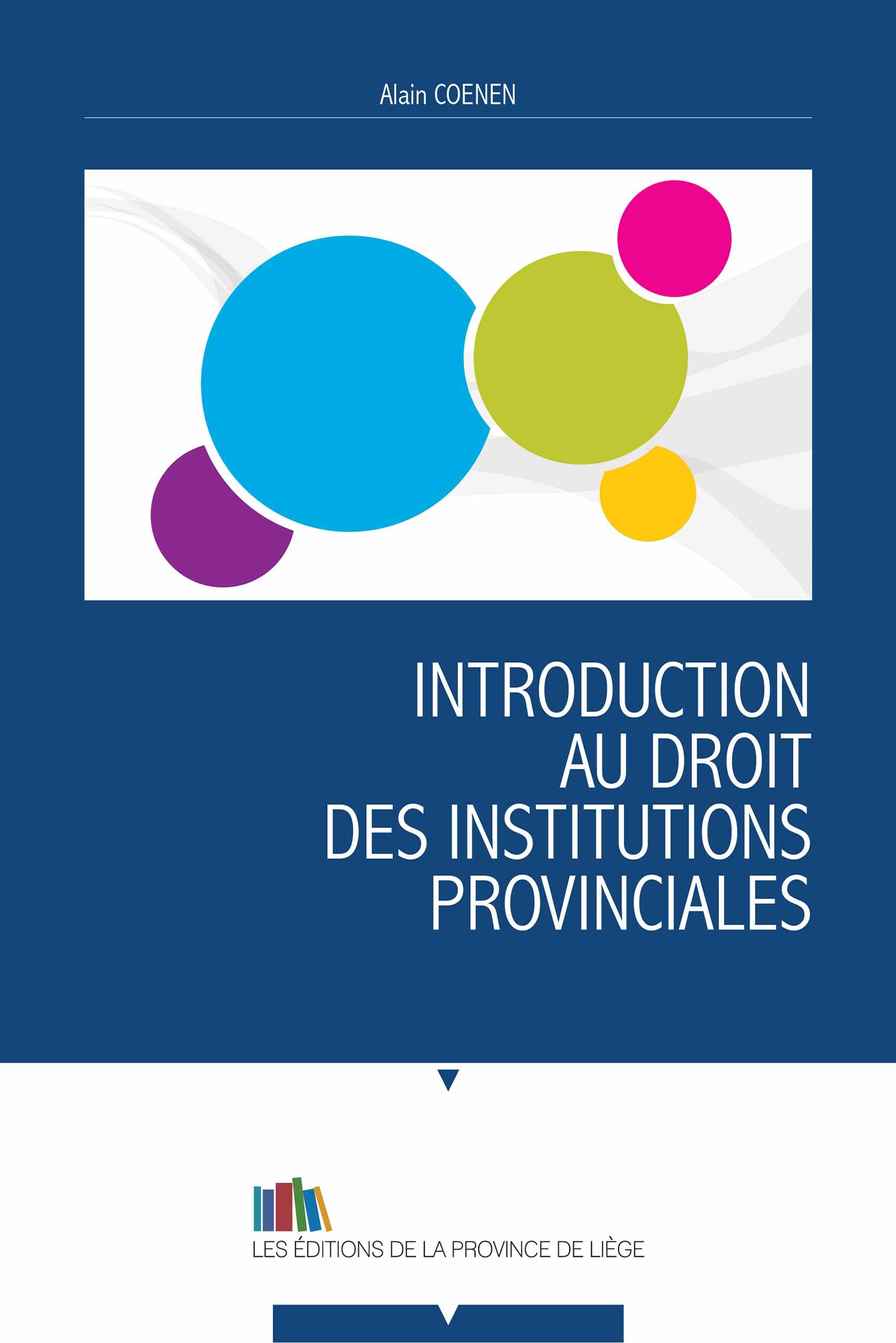 Introduction au droit des institutions provinciales
